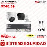 Kit 2 4 6 8 16 Cámaras 5mp  Cctv Dvr 4 Canales Hikvision