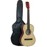 Guitarra Acústica Principiantes + Estuche+ Capo + Vitela