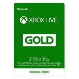 Xbox Live Gold Membresía 12 Meses Multiregión Global
