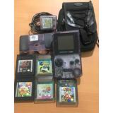 Gameboy Color Con Cargador, Estuche Y Juegos Mario Gallery