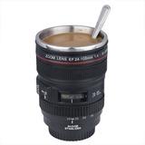 Taza Vaso Termo Tipo Lente De Camara Profesional Canon Nikon
