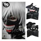 Mascara De Kaneki Tokyo Ghoul Ajustable / Incluye El Parche