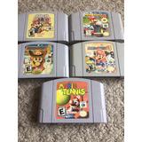Juegos Nintendo 64 Mario Paper Party Kart Tennis