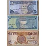 Billetes Mundiales : Irak 3, De 250, 500 Y 1000 Dinares