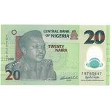 Nigeria, Billete Coleccionable 20 Nairas 2.008 Unc