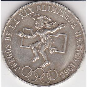 México, Antigua Moneda De Plata 25 Pesos  1.968