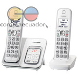 Panasonic Teléfono Inalámbrico 2 Bases Contestador Identific