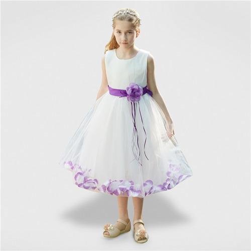 0b09a373 Vestidos Elegantes De Flores Para Niñas De 1 A 10 Años