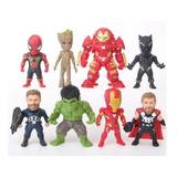 Figuras Muñecos Avengers Colección 8 Spiderman Hulk Ironman
