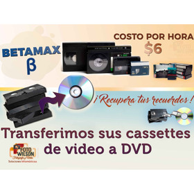 Traspaso Casete Video Vhs / Betamax /tc-30/video8 A Dvd /usb