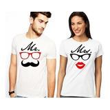 Camisetas Parejas Sublimación Personalizada 2x15
