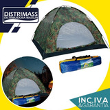 Carpa De Camping 206x206 4 Personas Impermeable Con Aislante