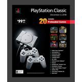 Playstation Classic Consola: 20 Juegos Y 2 Palancas