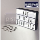 Lampara Led Cinematic Box Con Letras A Pilas O Corriente