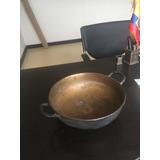 Paila De Bronce Antigua 24 Cm De Ancho Y 8 Y Medio De Alto