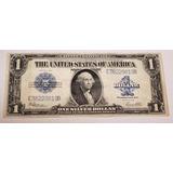 Billete De Un Dólar Sello Azul, 1923. Tamaño Grande (sábana)