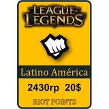 Tarjeta De Recarga De League Of Legends - 2430 Riot Points