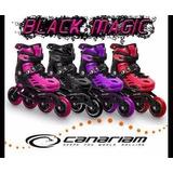 Oferta Patines Canariam Black Magic Semiprof. + Protecciones