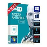 Eset Nod32 Antivirus V12 2019  1 Pc   1 Año  Original
