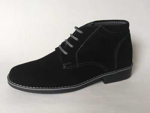 27bf50d7271 Zapato Hombre Botin Botines Cuero 100% Gamuzado