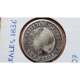 Moneda Antigua, 2 Reales, 1836, F.p, Ecuador, Predecimal, Vf
