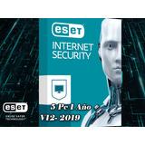 Eset Antivirus Internet Security | Licencia Para 5 Pcs 1 Año