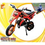 Mini Moto A Gasolina Lamborbini 49cc Tipo Cross Incluido Iva