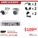 Kit 4 6 8 16 Camaras Seguridad 720p Hikvision + Dvr + Cable