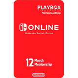 Nintendo Switch Online Membresía Individual 12 Meses Usa