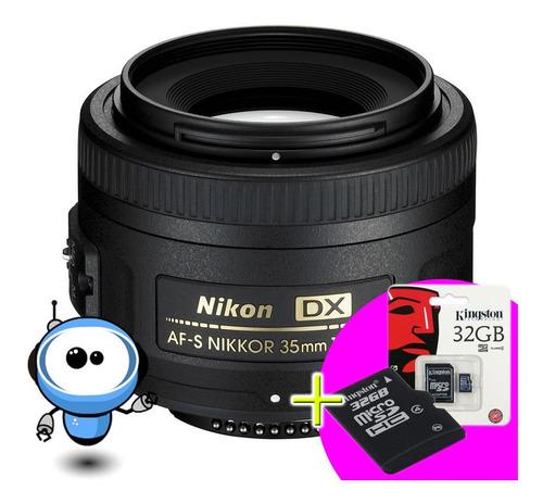 Nikon Lente Nikkor Af-s 35mm F/1.8g + Gratis M E M O R I A
