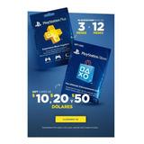 Tarjetas Psn Card Playstation Usa 10 $ 20 $ 25 Plus 1año 41$