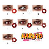 Lentes De Contacto Mangekyou Sharingan Cosplay Anime Naruto