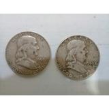 Moneda Half Dolar Franklin Plata