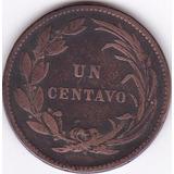 Moneda Decimal Ecuador! Un Centavo 1890 - Heaton
