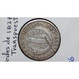 Moneda Ant, 2 Reales, 1837, Transpuesta, F.p, Predecimal, Vf