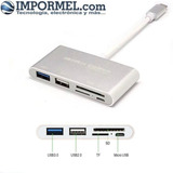 Adaptador Hub Tipo C Usb Para Macbook Adaptador 5 En 1