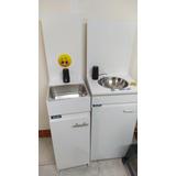 Lavamanos Lavabo Portátil + Tabla Soporte De Dispensador Z