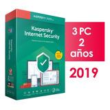 Kaspersky Internet Security 3 Pc 2 Años 2019 2018