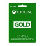 Xbox Live Gold 12 Meses Oferta!!