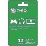 Xbox Live Gold 12 Meses Tarjeta De Suscripción