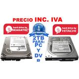 Disco Duro Pc 2tb 2 Tera Interno Seagate Hitachi 3.5