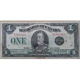 Billetes Mundiales : Canada 1 Dolar 1923 Rey Jorge V Norteam