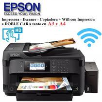 Impresora A3 Epson Wf7610-wf7710  Sist.cont+wifi+duplex+adf.