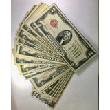 Billetes De 2 Dólares Sello Rojo De 1.928