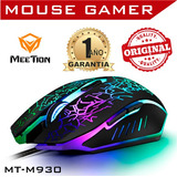 Oferta * Mouse Gamer Meetion M930 6 Bot Luz Led Usb 2400 Dpi