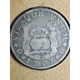 Moneda Antigua-colonia-4 Reales-1757-columnaria-plata-vf