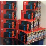 Consola Nintendo Switch Neon Nueva Version Bateria 2019