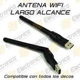 Antena, Wifi,150 Mbps, Compatibles Equipos,satelital Smartv