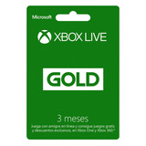 Xbox Live Gold Suscripción Card Digital 3 Meses Membresía