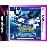 Pokemon Alpha Sapphire Juego 3ds Fisico Nuevo